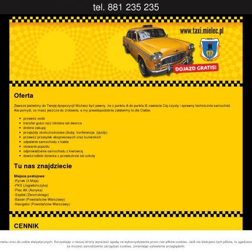 Tanie taxi w Mielcu