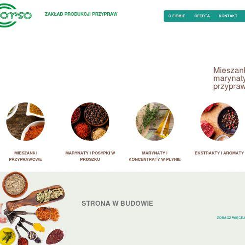 Płynne koncentraty dla przemysłu spożywczego