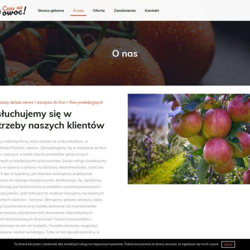 Dowóz owoców dla pracowników