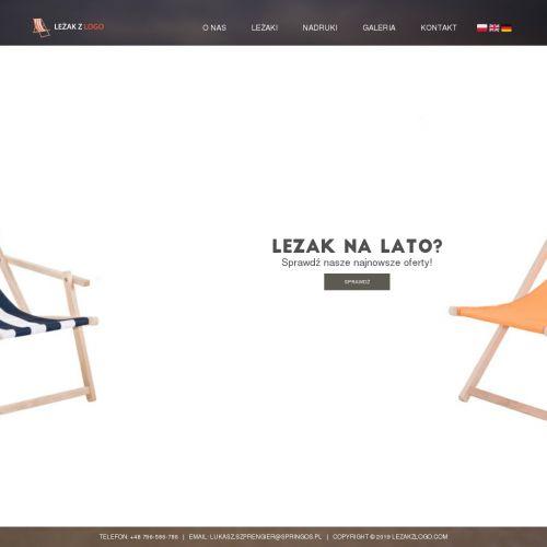 Tanie leżaki reklamowe z logo firmy