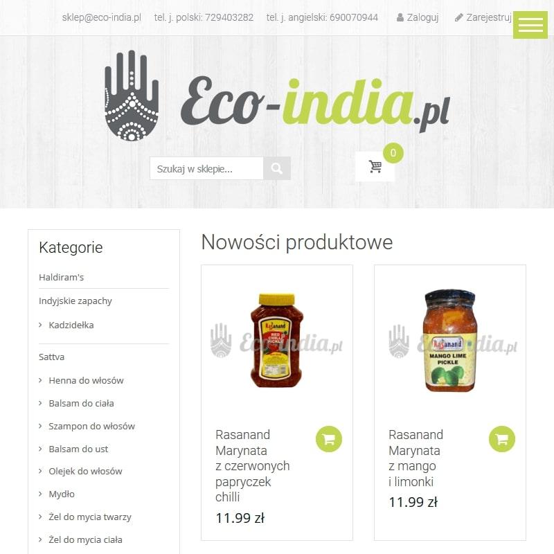 Naturalna żywność i suplementy z Indii