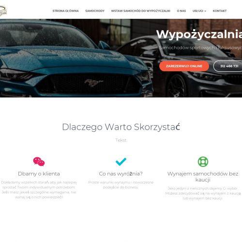 Wynajem luksusowego auta bez kaucji w Płocku
