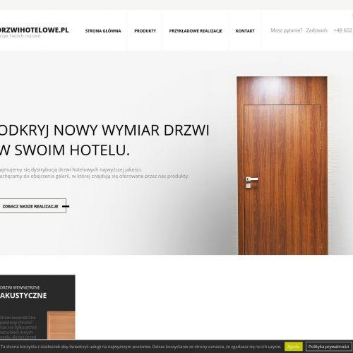 Drzwi techniczne dla hoteli