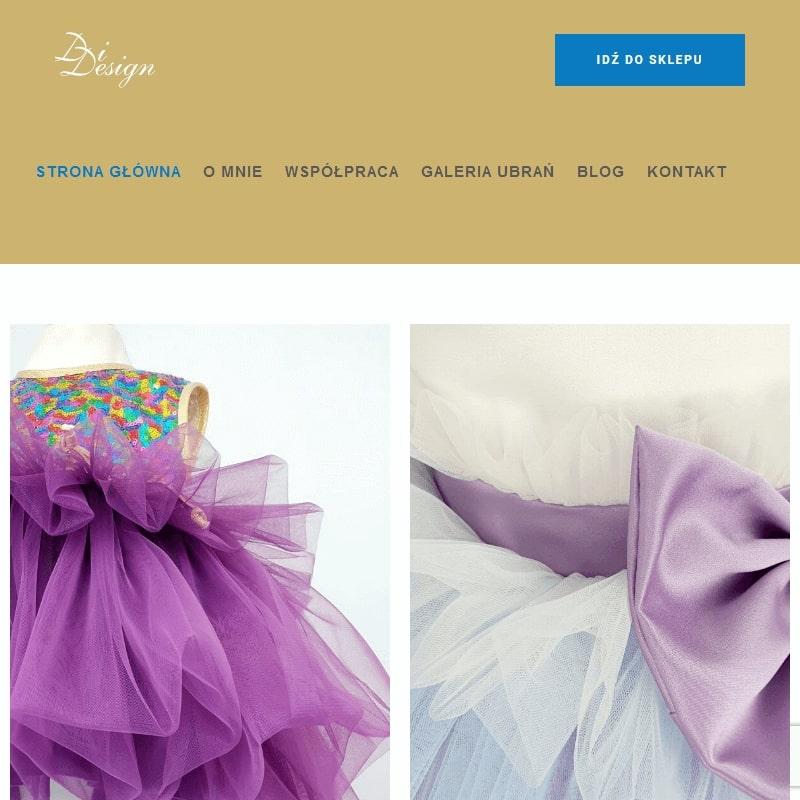 Autorskie sukienki dla dziewczynek