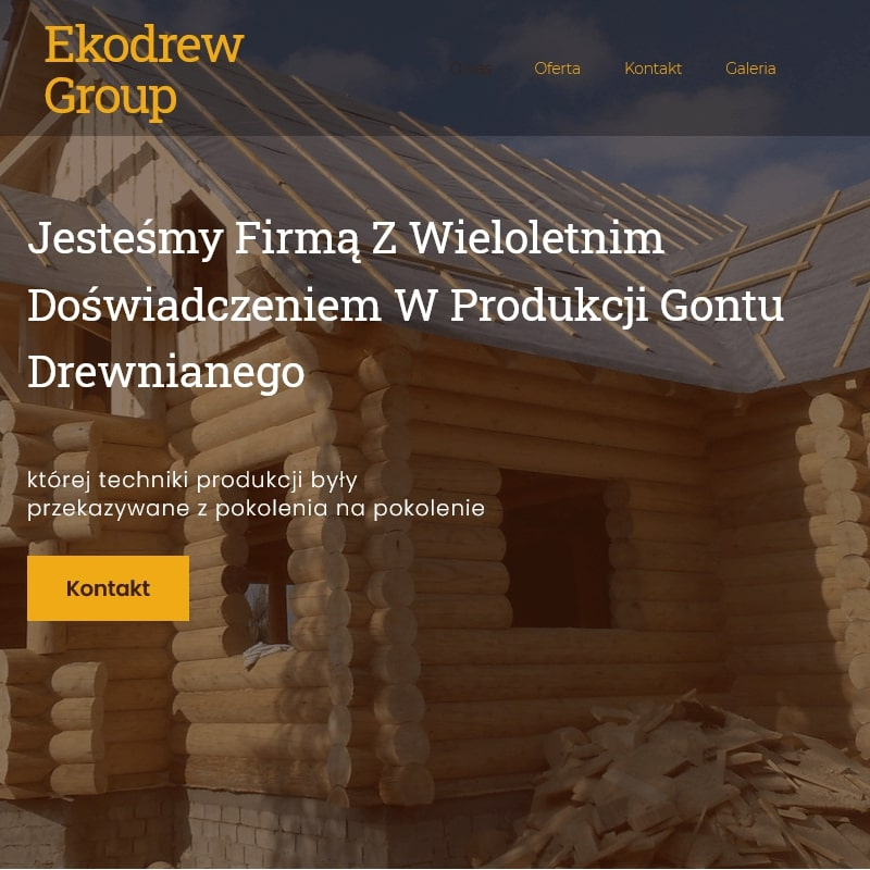 Producent domków drewnianych z Małopolski