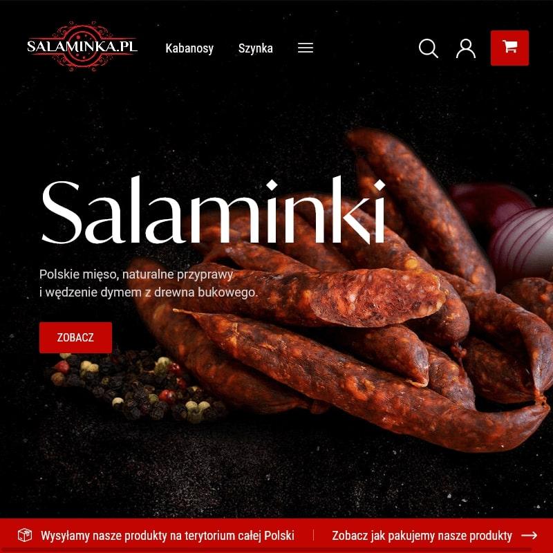 Kabanosy wieprzowe lub chorizo