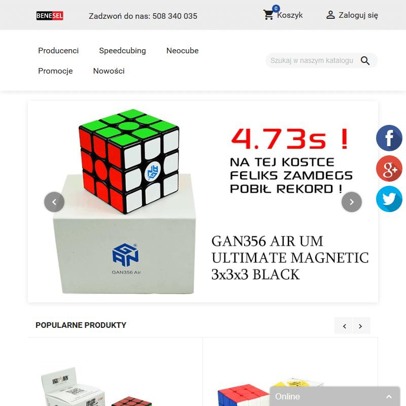 Sklep z kostkami Rubika