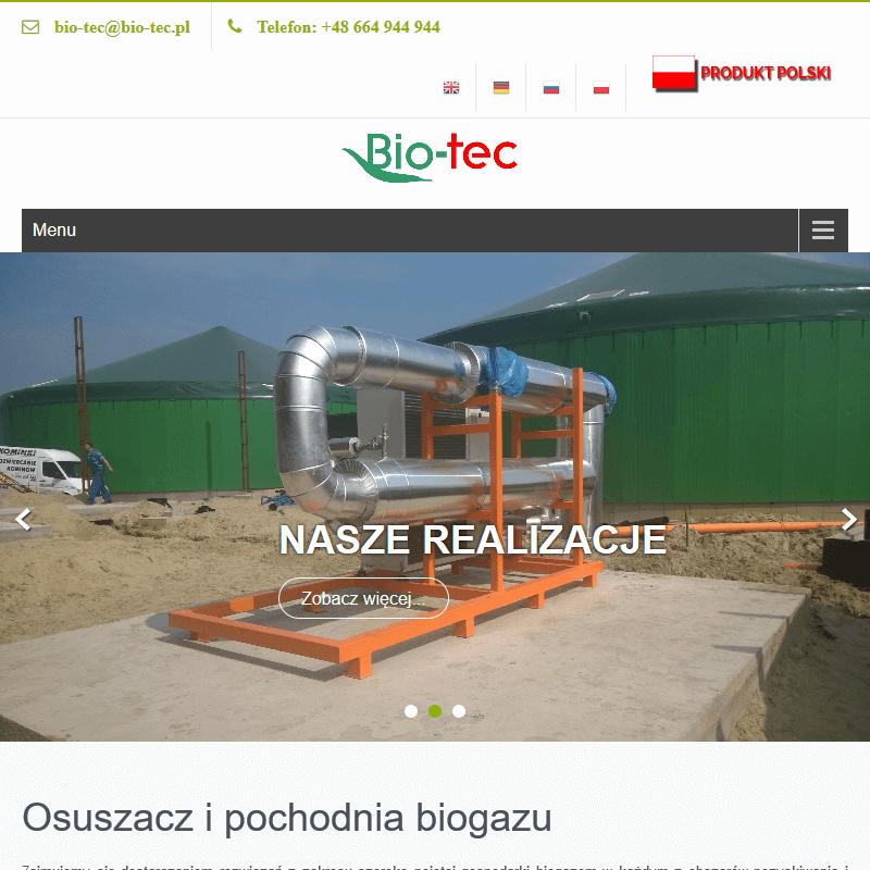 Instalacje biogazowe