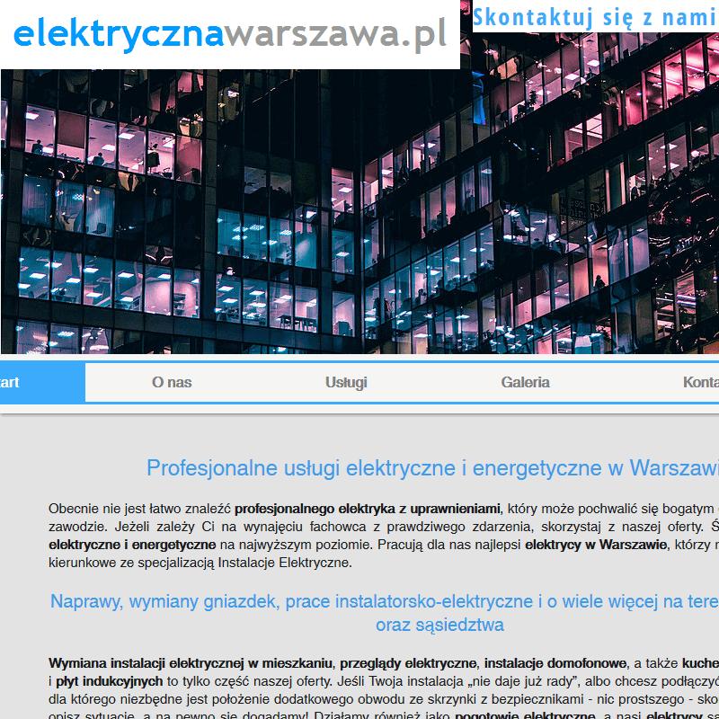 Profesjonalny elektryk - Warszawa