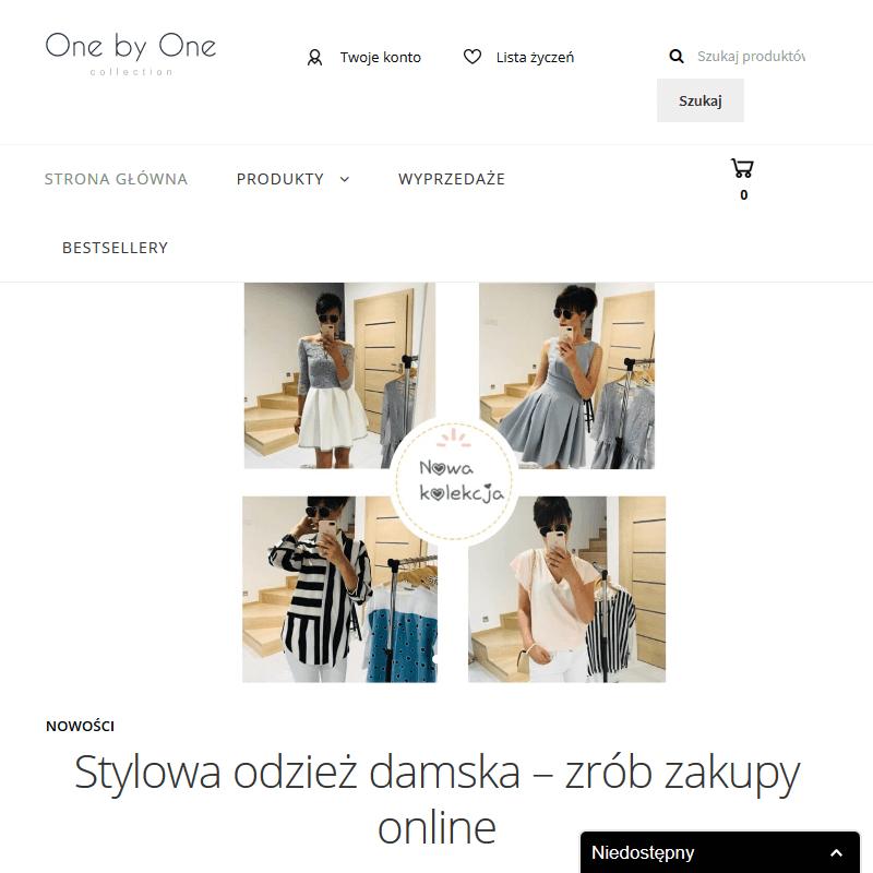 Internetowy sklep z odzieżą damską