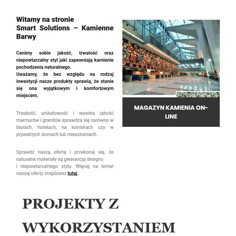 Magazyn kamienia w Warszawie