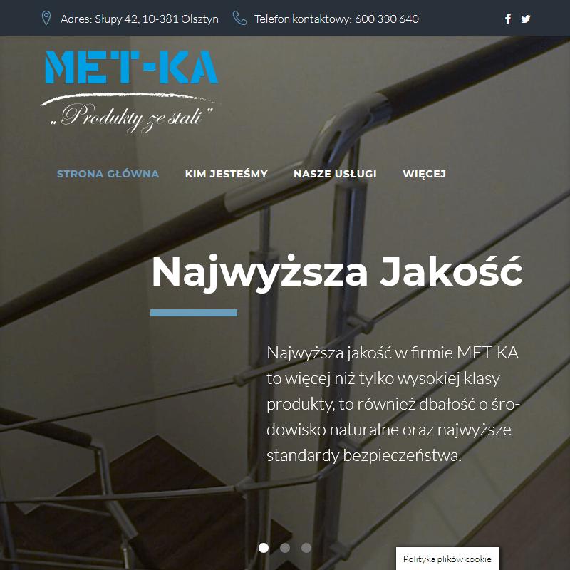 Barierki metalowe - Olsztyn