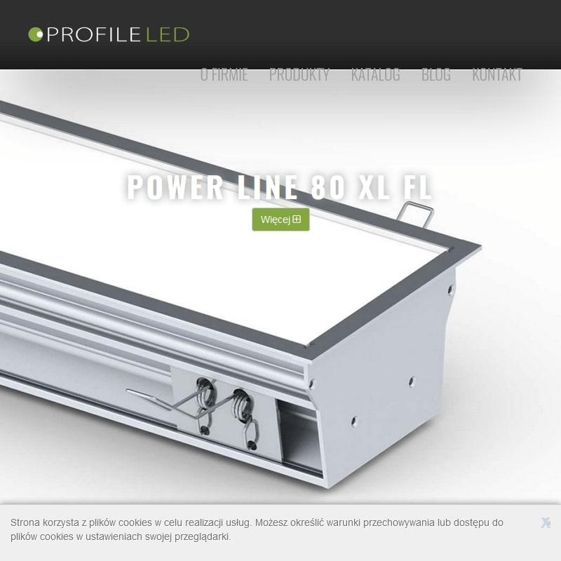 Oprawy oraz profile LED do zabudowy