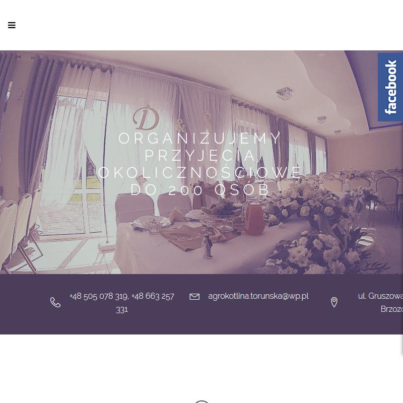 Duża sala na wesele - Toruń