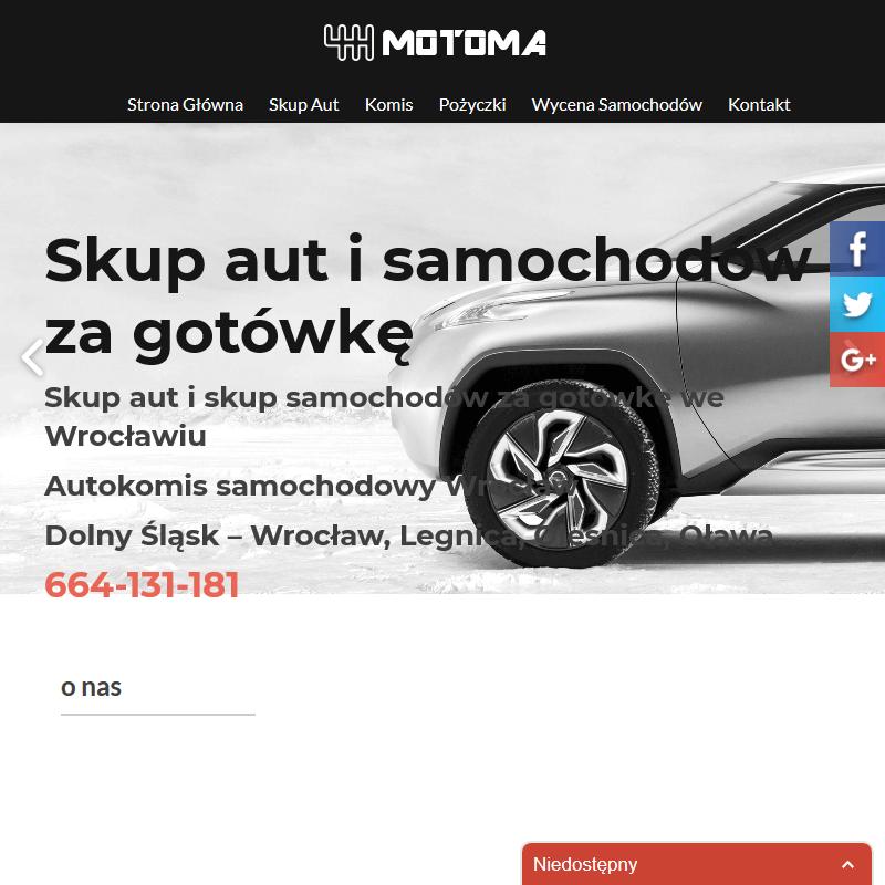 Skup aut MOTOMA we Wrocławiu