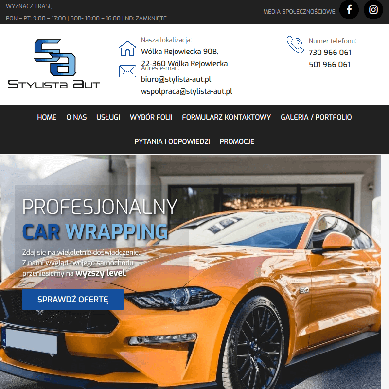 Zmiana koloru oraz oklejanie reklamowe samochodu