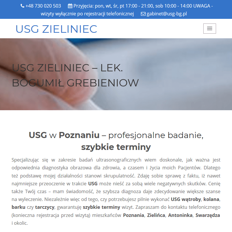 USG kolana - Poznań